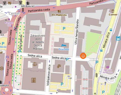 Mapa - Projektivn ibiro 91 d.o.o.